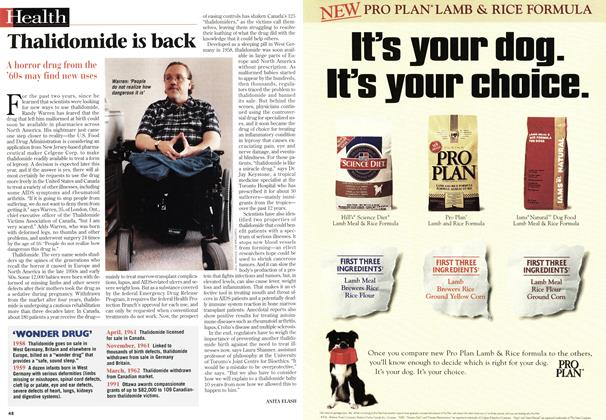 Article Preview: Thalidomide is back, March 1997 | Maclean's