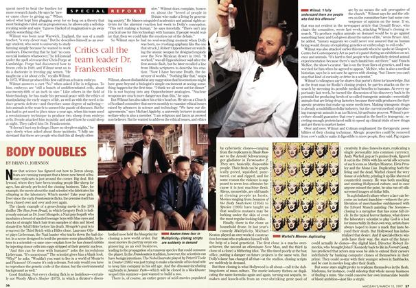 Article Preview: BODY DOUBLES, March 1997 | Maclean's