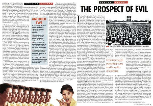 Article Preview: THE PROSPECT OF EVIL, March 1997 | Maclean's