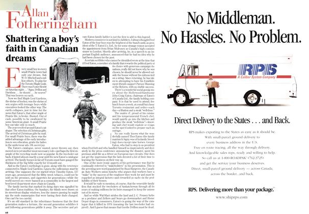 Article Preview: Shattering a boy's faith in Canadian dreams, March 1997 | Maclean's