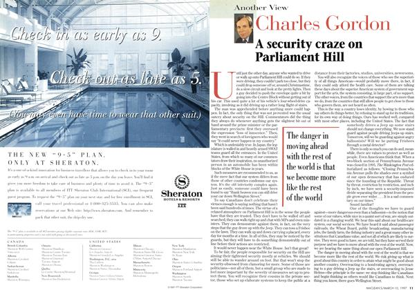 Article Preview: A security craze on Parliament Hill, March 1997 | Maclean's