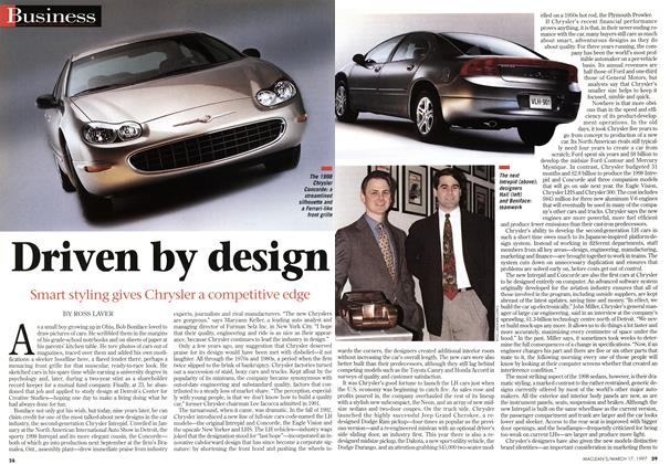 Article Preview: Driven by design, March 1997 | Maclean's