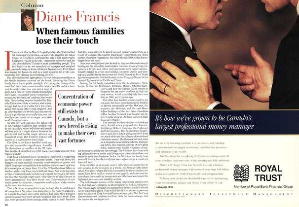 Article Preview: When famous families lose their touch, March 1997 | Maclean's
