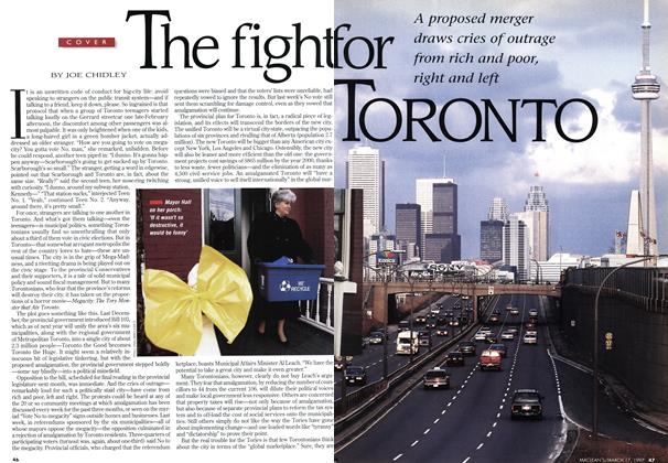 Article Preview: The fight for TORONTO, March 1997 | Maclean's