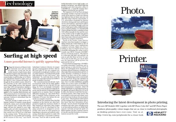 Article Preview: Surfing at high speed, March 1997 | Maclean's