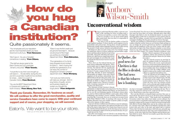 Article Preview: Unconventional wisdom, March 1997 | Maclean's