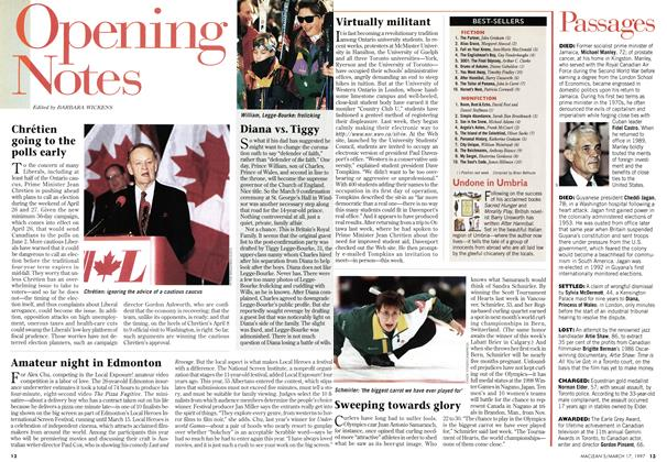 Article Preview: Opening Notes, March 1997 | Maclean's