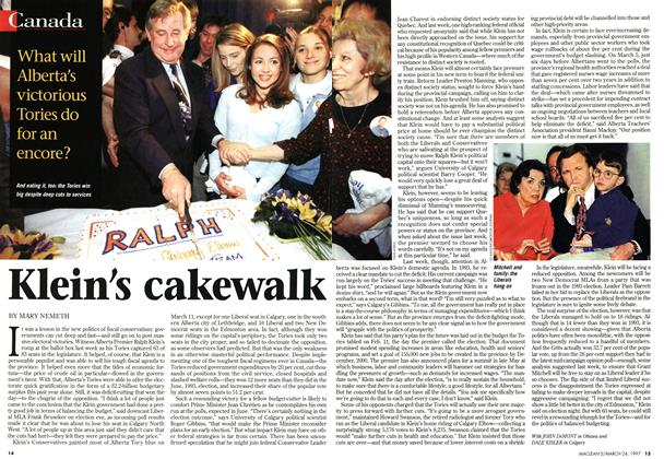 Article Preview: Klein's cakewalk, March 1997 | Maclean's
