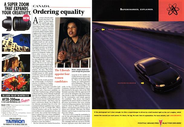 Article Preview: Ordering equality, March 1997 | Maclean's
