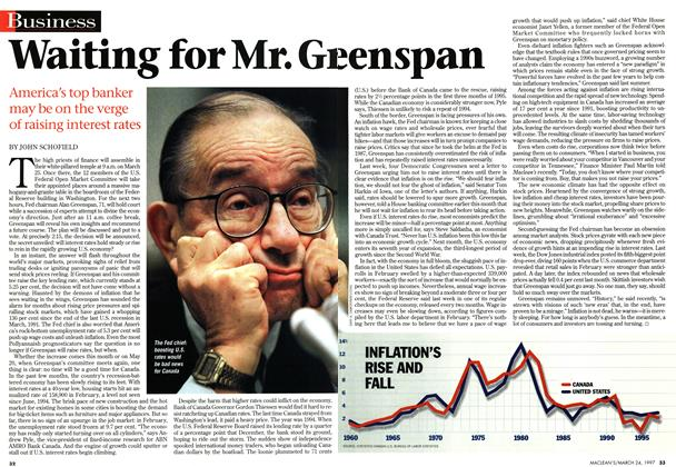 Article Preview: Waiting for Mr. Greenspan, March 1997 | Maclean's