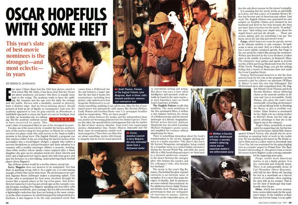 Article Preview: OSCAR HOPEFULS WITH SOME HEFT, March 1997 | Maclean's