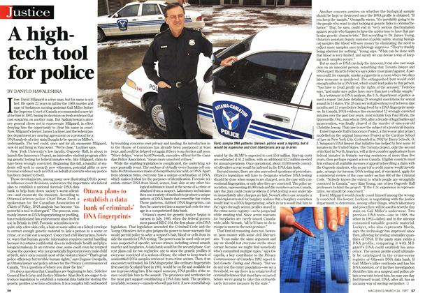 Article Preview: A hightech tool for police, March 1997 | Maclean's