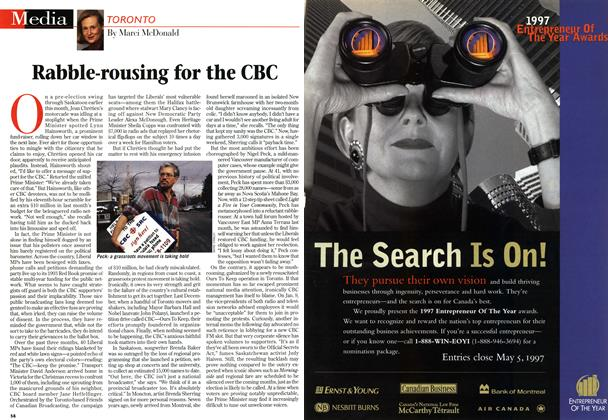 Article Preview: Rabble-rousing for the CBC, March 1997 | Maclean's