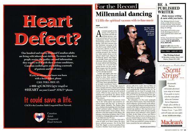 Article Preview: Millennial dancing, March 1997 | Maclean's
