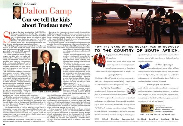 Article Preview: Can we tell the kids about Trudeau now?, March 1997 | Maclean's