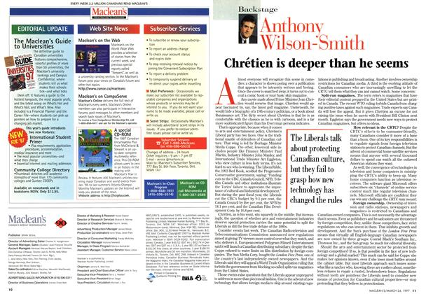 Article Preview: Chrétien is deeper than he seems, March 1997 | Maclean's