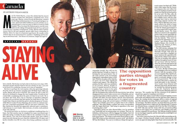Article Preview: STAYING ALIVE, March 1997 | Maclean's