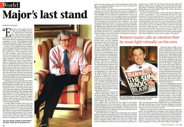 Article Preview: Major's last stand, March 1997 | Maclean's