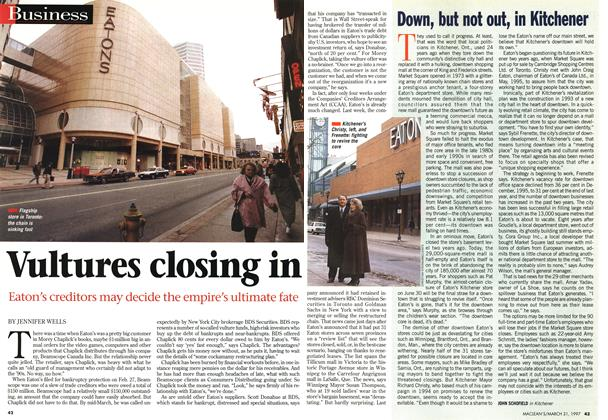 Article Preview: Down, but not out, in Kitchener, March 1997 | Maclean's