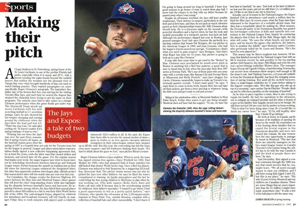 Article Preview: Making their pitch, March 1997 | Maclean's