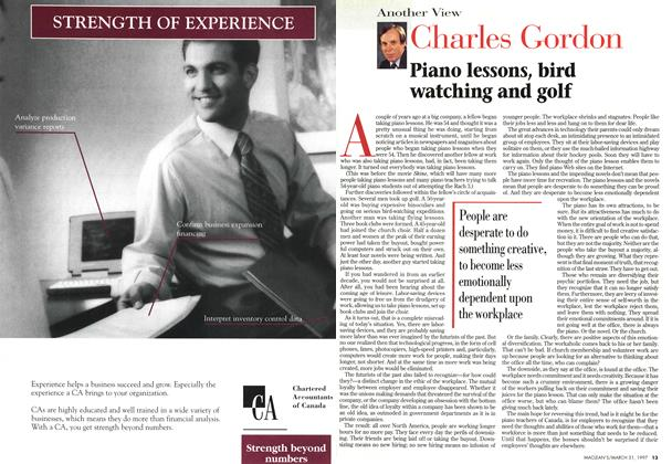 Article Preview: Piano lessons, bird watching and golf, March 1997 | Maclean's