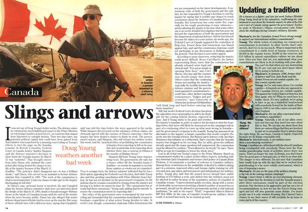 Article Preview: Updating a tradition, April 1997 | Maclean's