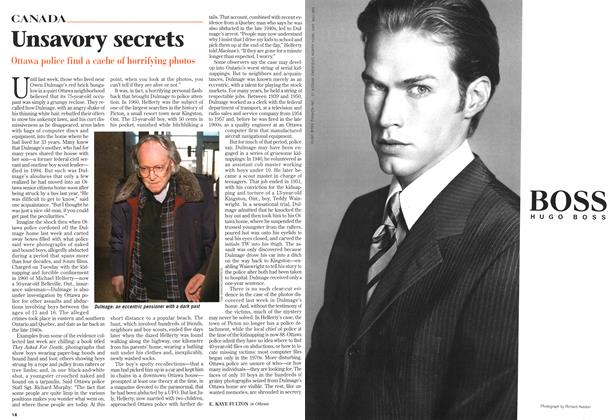 Article Preview: Unsavory secrets, April 1997 | Maclean's