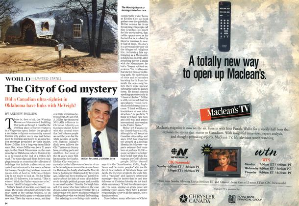 Article Preview: The City of God mystery, April 1997 | Maclean's