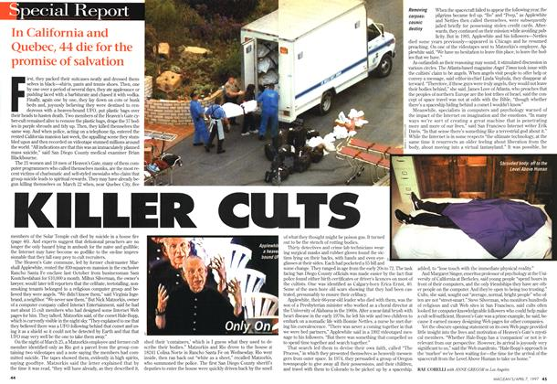 Article Preview: KILLER CULTS, April 1997 | Maclean's