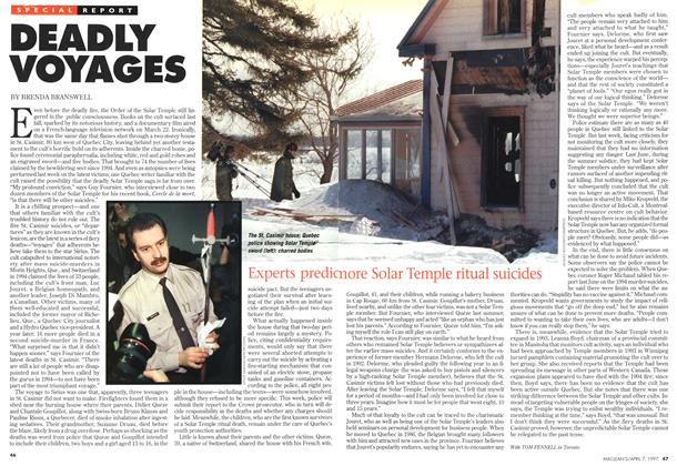 Article Preview: DEADLY VOYAGES, April 1997 | Maclean's
