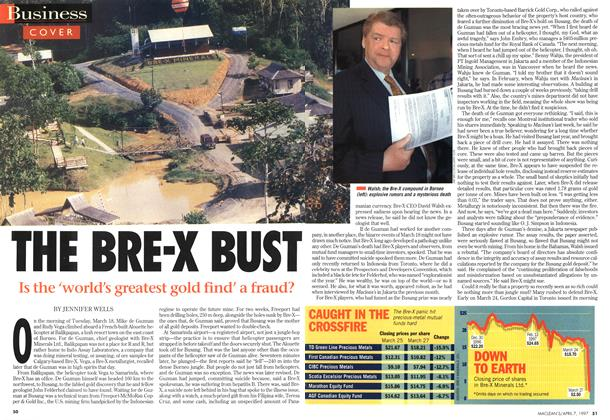 Article Preview: THE BRE-X BUST, April 1997 | Maclean's