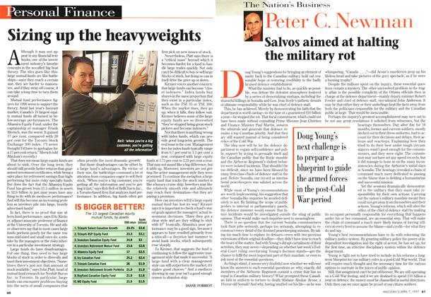 Article Preview: Sizing up the heavyweights, April 1997 | Maclean's