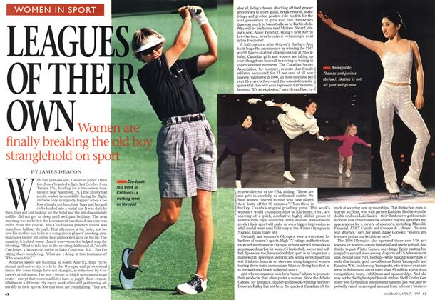 Article Preview: LEAGUES OF THEIR OWN, April 1997 | Maclean's