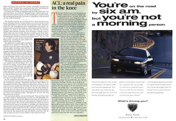 Article Preview: ACL: a real pain in the knee, April 1997 | Maclean's