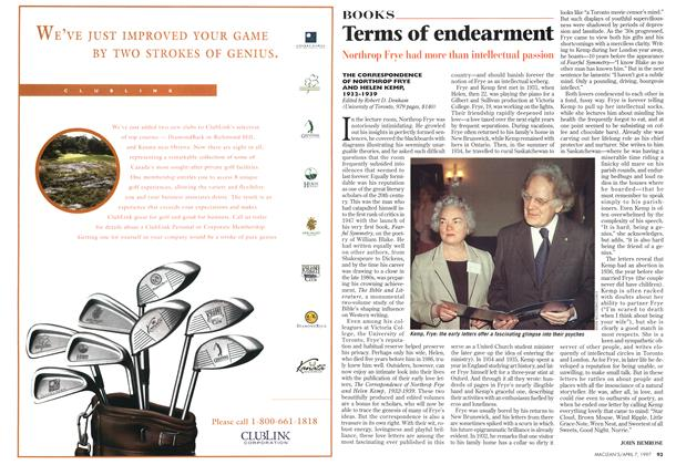 Article Preview: Terms of endearment, April 1997 | Maclean's