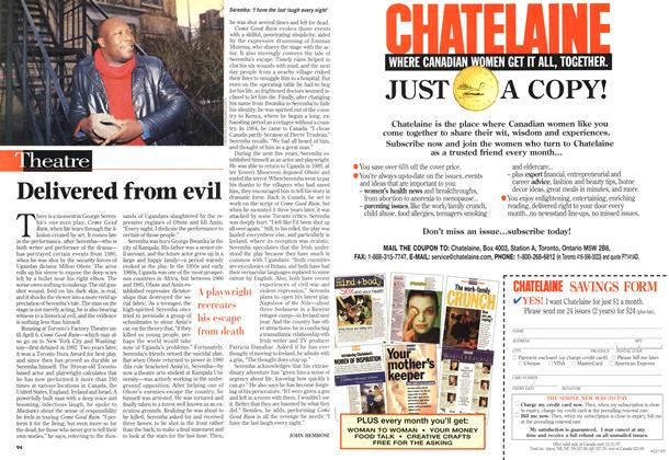 Article Preview: Delivered from evil, April 1997 | Maclean's