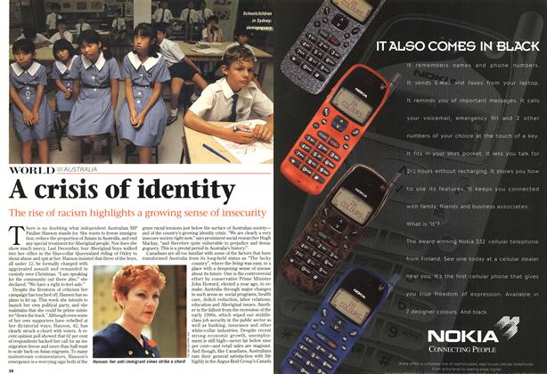Article Preview: A crisis of identity, April 1997 | Maclean's