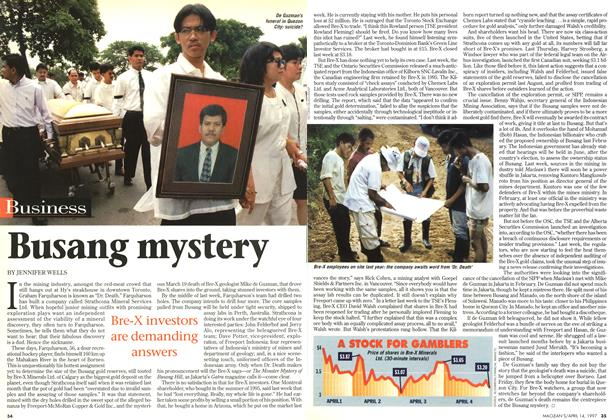 Article Preview: Busang mystery, April 1997 | Maclean's