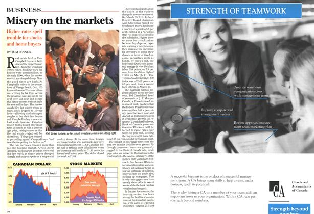Article Preview: Misery on the markets, April 1997   Maclean's