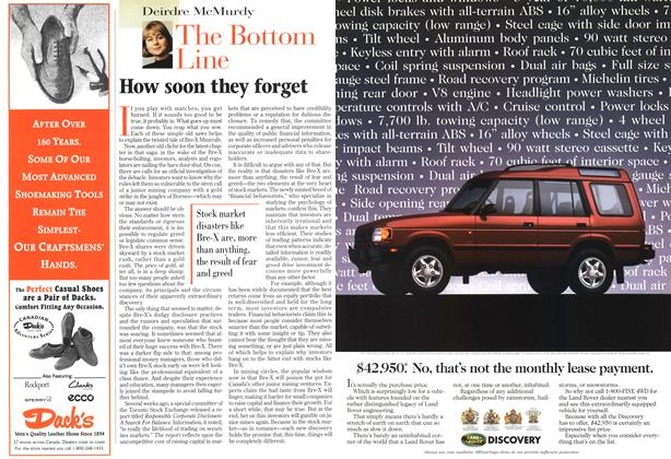 Article Preview: How soon they forget, April 1997 | Maclean's