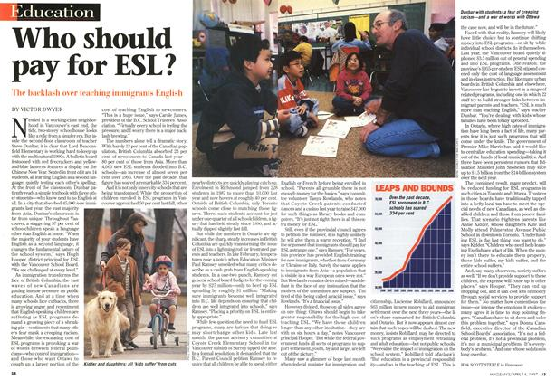 Article Preview: Who should pay for ESL?, April 1997 | Maclean's