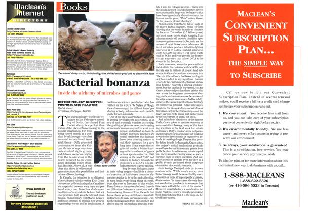 Article Preview: Bacterial bonanza, April 1997 | Maclean's