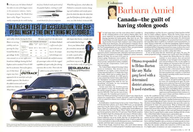 Article Preview: Canada—the guilt of having stolen goods, April 1997 | Maclean's