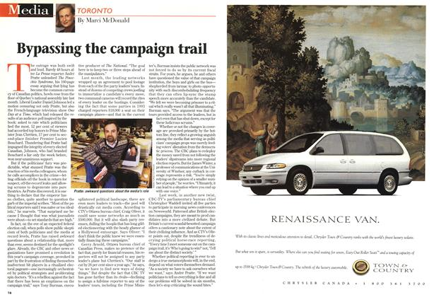 Article Preview: Bypassing the campaign trail, April 1997 | Maclean's