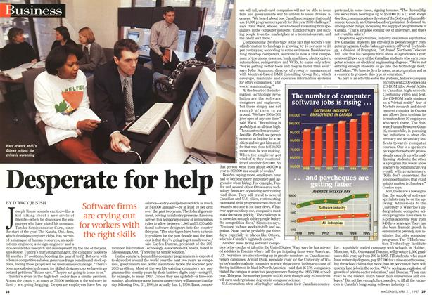 Article Preview: Desperate for help, April 1997   Maclean's