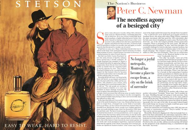 Article Preview: The needless agony of a besieged city, April 1997 | Maclean's