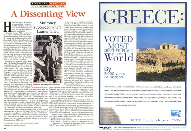 Article Preview: A Dissenting View, April 1997 | Maclean's