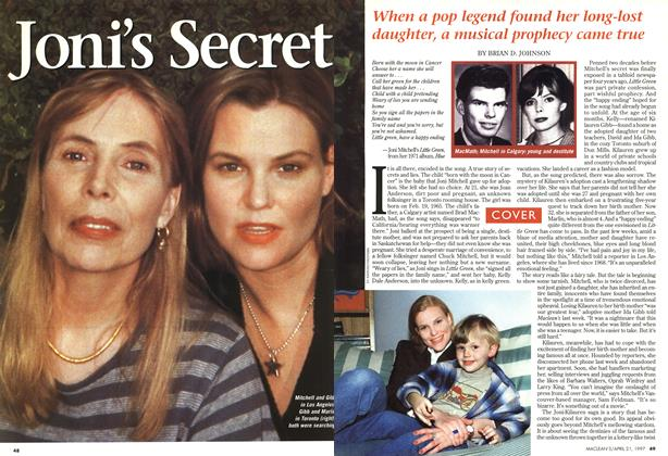 Article Preview: Joni's Secret, April 1997 | Maclean's