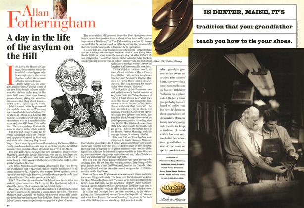 Article Preview: A day in the life of the asylum on the Hill, April 1997 | Maclean's
