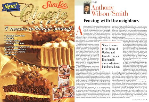 Article Preview: Fencing with the neighbors, April 1997 | Maclean's